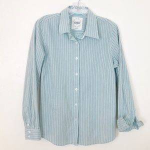 3/$25 Izod shirt button down blue green stripe